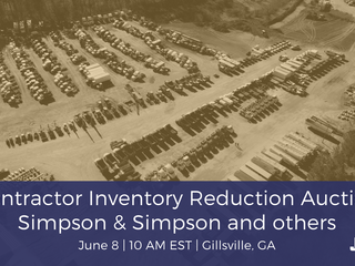 Contractor Inventory Reduction Public Auction- Simpson & Simpson, LLC and Others