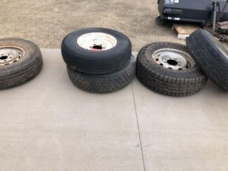 5 Tires  Variety  Three with good tread