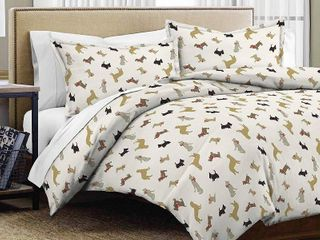 Pointehaven Heavy Weight Flannel Duvet Set King Cali King Size