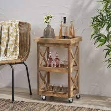Hamer Mango Wood Trolly By CKH
