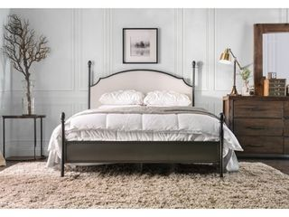 Furniture of America Karis Contemporary Arched Bed Frame Queen Size