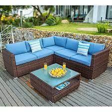 COSIEST Outdoor Wicker Patio Sofa Set w  Cushions