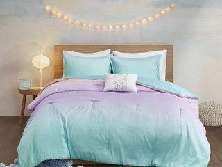 Mi Zone Sparkle Metallic Glitter Printed Reversible Comforter Set Full Queen Size