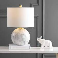 luna Faux Marble Resin lED Table lamp