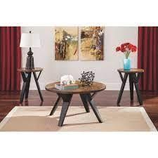 Ingel Contemporary 2 Tone Table Set of 3