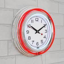 Retro light Ring Wall Clock