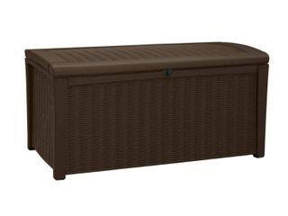 Keter Borneo Deck 110G Rattan Outdoor Patio Storage Box