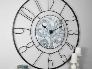 FirsTime  amp  Co  Fulshaw Farmhouse Gears Wall Clock