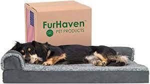 Plush Corner Dog Bed w  Cushion Insert