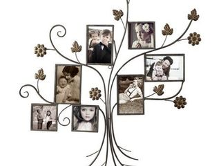 Adeco 7 Opening Iron Collage Wall Hanging Photo Frame