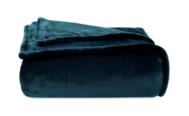 Dark Teal Plush Blanket
