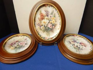 Oval Collectors Plates Framed