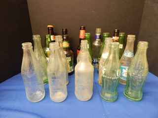 large lot of Vintage Pop   Beer Bottles