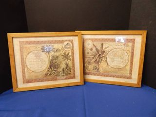 Pair of Old World Map Prints