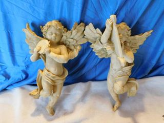 Cherub Wall Decor  Pair