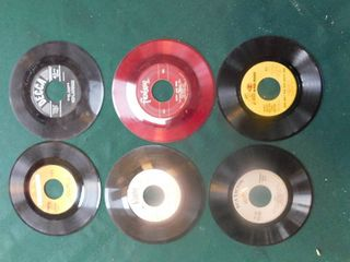 Six 45 RPM Records including Billy Joel