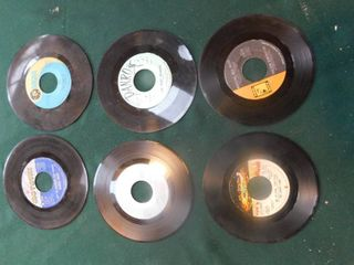 Six 45 RPM Records including Diana Ross