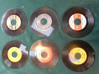 Six 45 RPM Records including Elvis Presley