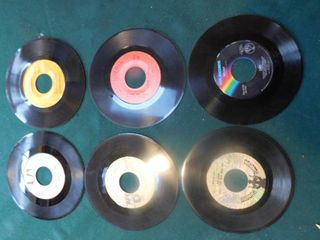 Six 45 RPM Records including Paul Anka