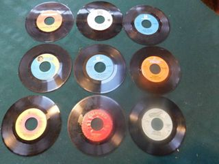 Nine 45 RPM Records including Chicago