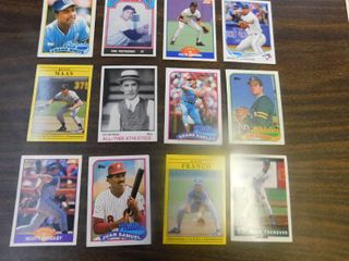 12 Baseball Cards including Frank White