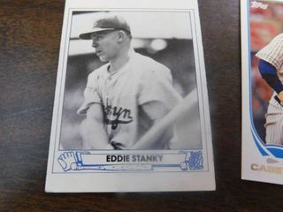 Six Trading Cards including Eddie Stanky