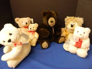 lot of 6 Teddy Bears