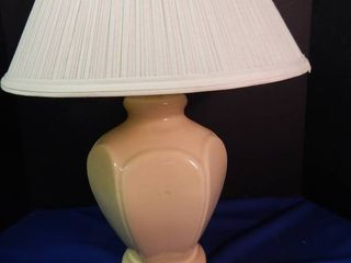 Cream Color lamp w Shade