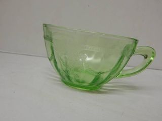 Vintage Hocking Green Glass Coffee Cups  8 ea