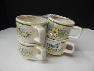 lenox Temper ware Coffee Mugs  4 ea