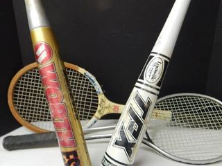 Tennis Rackets   Baseball Bats