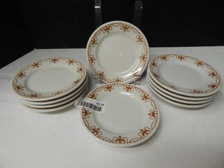Sterling China Saucers  10 ea