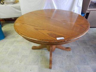 42  Round Oak Pedestal Table