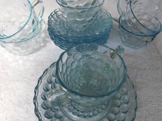Clear Bubble Glass  14 pieces