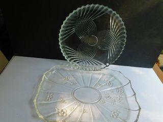 Glass Serving Platters  2 each
