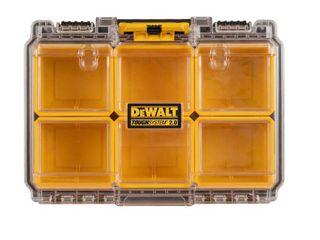 DEWAlT Tough System 2 0 6 Compartment Small Parts Organizer  Yellow