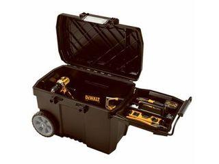 DEWAlT Portable Tool Box 88lb 16 3 8in H Blac DWST33090 NO HANDlE DAMAGED