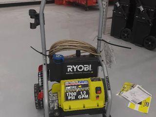 Ryobi Electric Pressure Washer  1700 PSI 1 2 GPM  Green  Includes One Hose