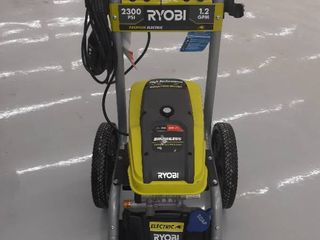 Ryobi Electric Power Washer  2300 PSI 1 2 GPM  Green  Machine Only  Not Fully Inspected