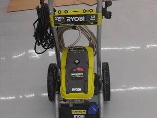 Ryobi Electric Power Washer  2300 PSI  1 2 GPM  green  Machine Only with One Hose  Used