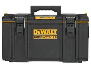 DEWAlT TOUGHSYSTEM 2 0 22 in  Medium Tool Box  Black DAMAGED