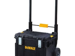 DEWAlT DWST08250 ToughSystemAr DS450 22  Rolling Tool Box  Modular Storage MISSING ClAMPS TO ATTACH ADDITIONAl BOXES