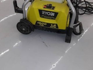 Ryobi Electric Pressure Washer  1900 PSI  1 2 GPM  Green  Used  Machine Only