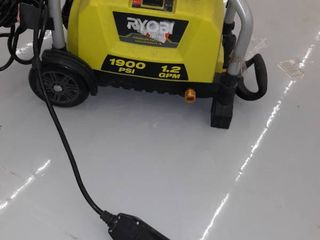 Ryobi Electric Pressure Washer  1900 PSI  1 2 GPM  Green  Machine Only