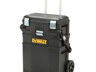 DEWAlT 16 in  4 in 1 Cantilever Tool Box Mobile Work Center with Removable Tray  Black DAMAGED