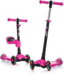 lascoota 2 in 1 Kick Scooter With Removable Seat Great For Kids   Toddlers