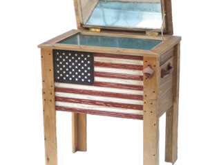 57 Qt Wooden Flag Cooler Backyard Expressions