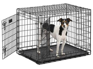 MidWest Ultima Pro Extra Strong Double Door Folding Metal Dog Crate  30