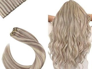 Ugeat Hair Extensions Clip in One Piece 24 Inch Double Weft Clip in Hair Extensions Remy hair Extensions Clip in Human Hair Blonde Piano Color  18 Mixed with  613 Clip in Human Hair