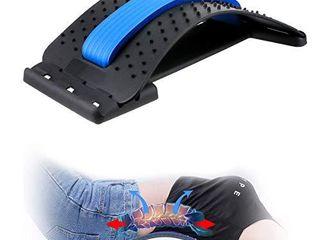 Back Stretcher CAMTOA lumbar Back Pain Relief Device Multi level Spinal lumbar Back Stretcher Spine Deck Back Stretching Treatment Back Massager